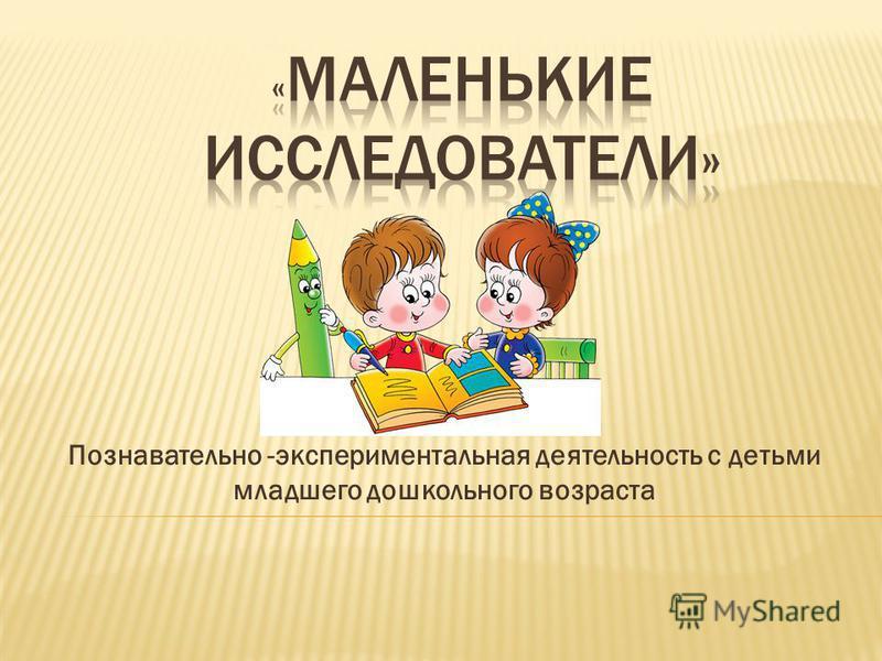 Познавательно -экспериментальная деятельность с детьми младшего дошкольного возраста