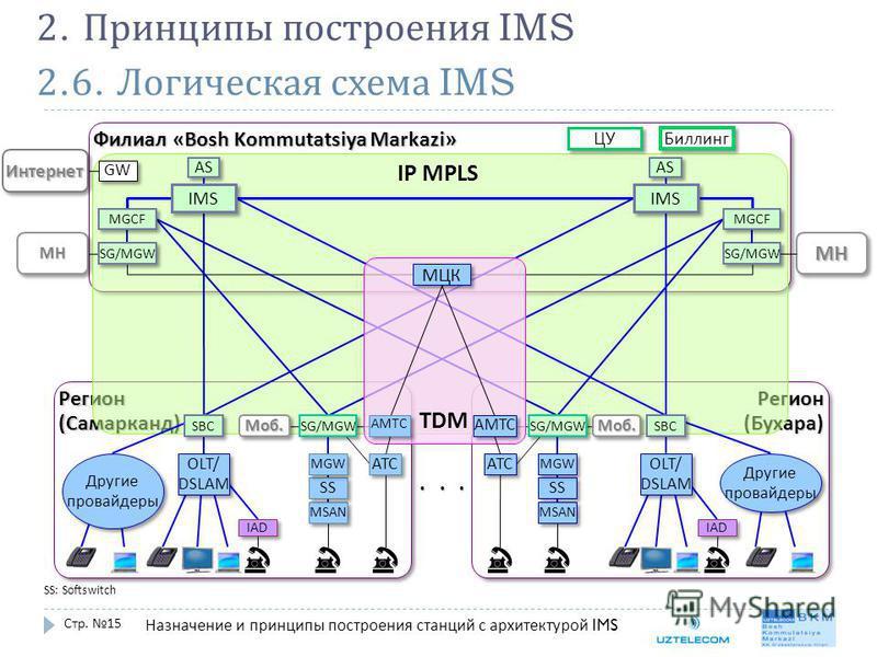 2.6. Логическая схема IMS Стр. 15 2. Принципы построения IMS Назначение и принципы построения станций с архитектурой IMS