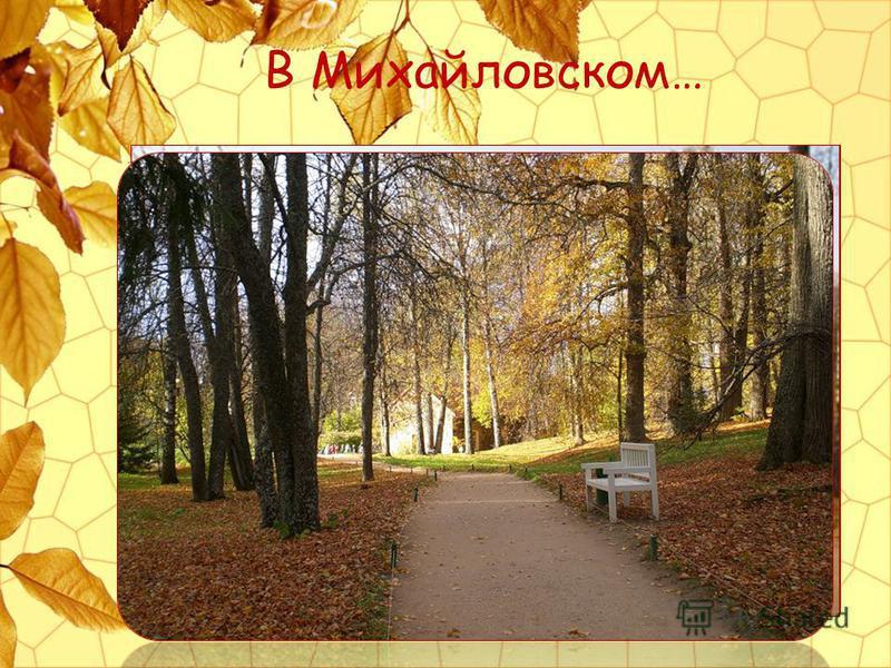 В Михайловском…