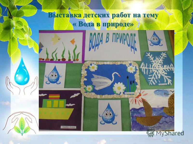Выставка детских работ на тему « Вода в природе»