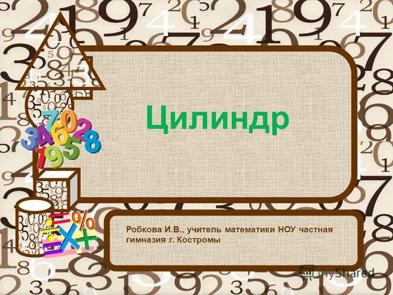 Цилиндр Робкова И.В., учитель математики НОУ частная гимназия г. Костромы