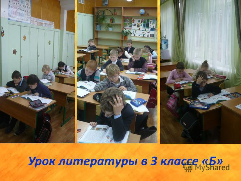 Урок литературы в 3 классе «Б»