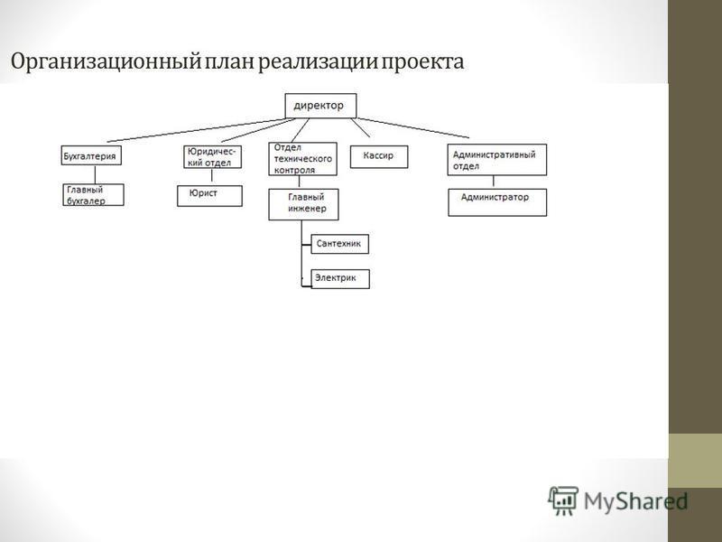 Организационный план реализации проекта