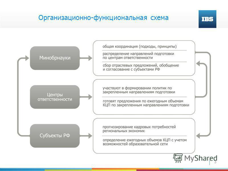 3 Организационно-функциональная схема