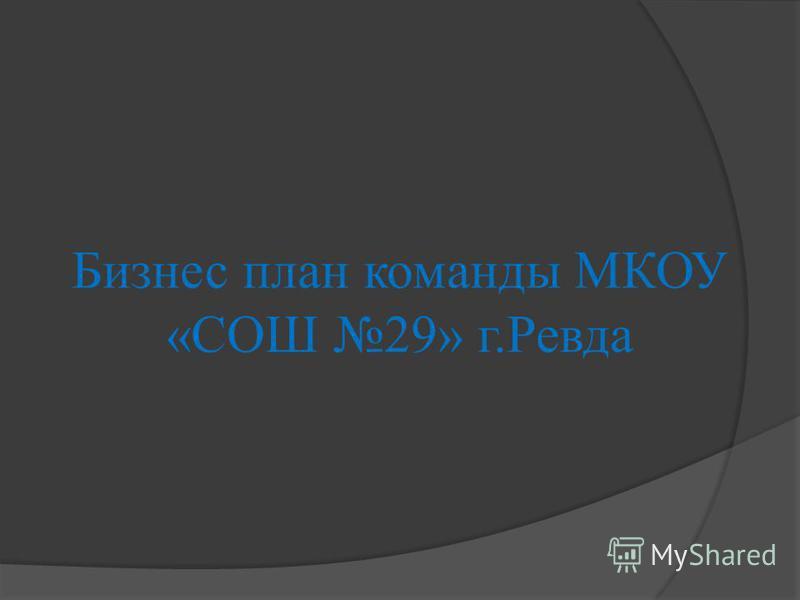 Бизнес план команды МКОУ «СОШ 29» г.Ревда
