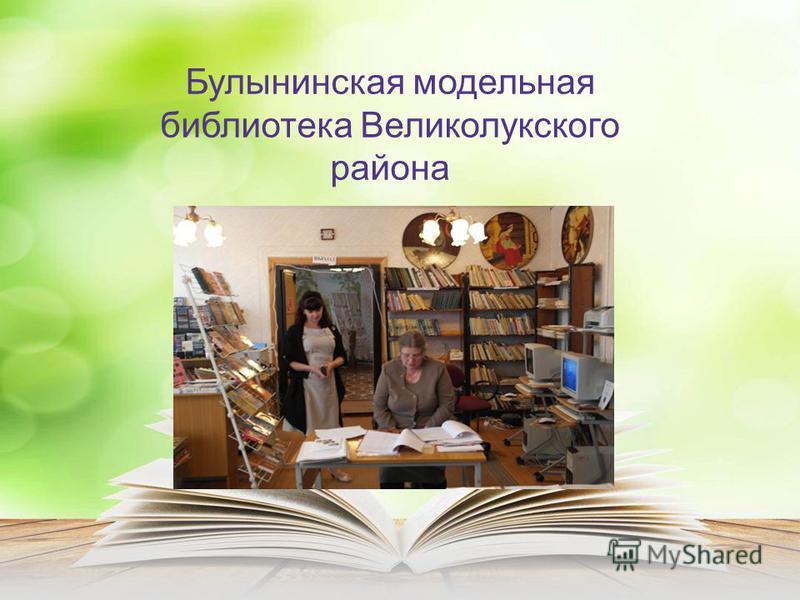 Булынинская модельная библиотека Великолукского района