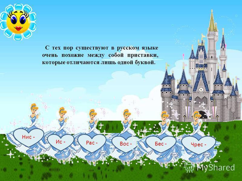 Нис - Ис - Рас - Вос - Бес - Чрес - С тех пор существуют в русском языке очень похожие между собой приставки, которые отличаются лишь одной буквой.