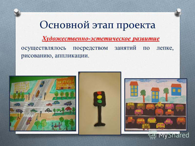 Основной этап проекта Художественно-эстетическое развитие осуществлялось посредством занятий по лепке, рисованию, аппликации.