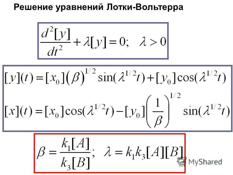 Решение уравнений Лотки-Вольтерра