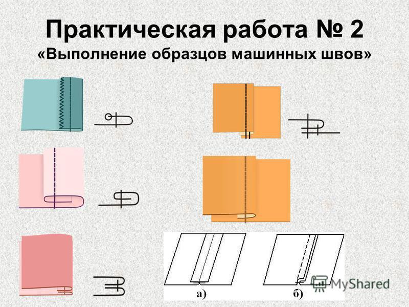 Практическая работа 2 «Выполнение образцов машинных швов»