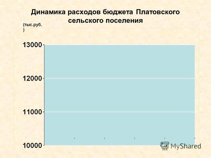 Динамика расходов бюджета Платовского сельского поселения (тыс.руб. )