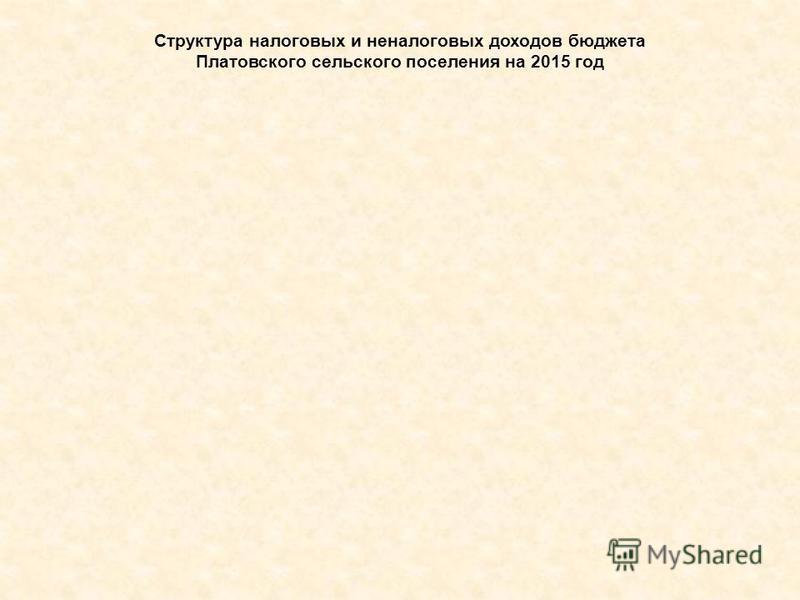 Структура налоговых и неналоговых доходов бюджета Платовского сельского поселения на 2015 год