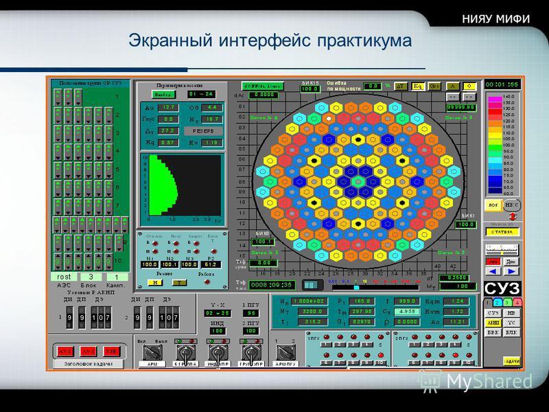 НИЯУ МИФИ Экранный интерфейс практикума