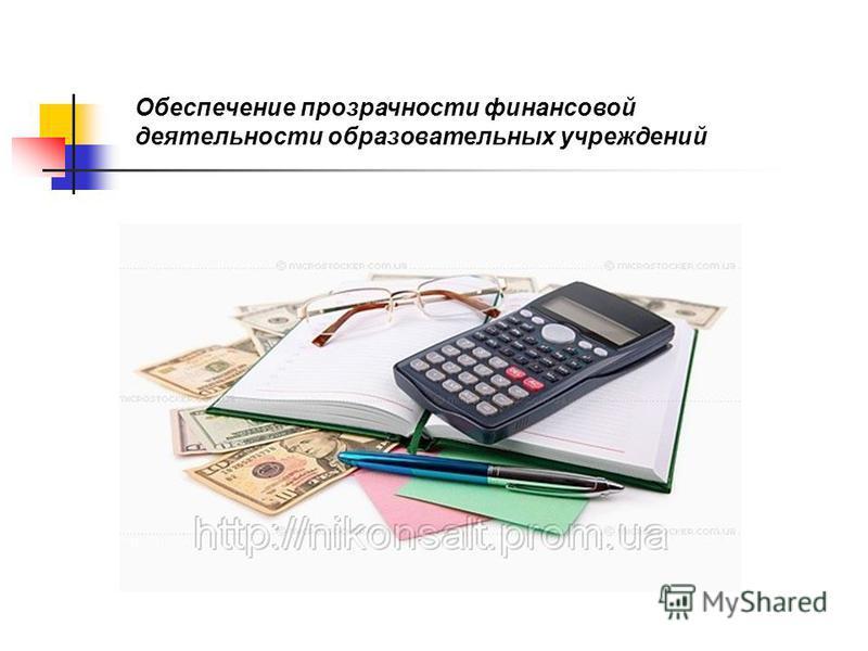 Обеспечение прозрачности финансовой деятельности образовательных учреждений