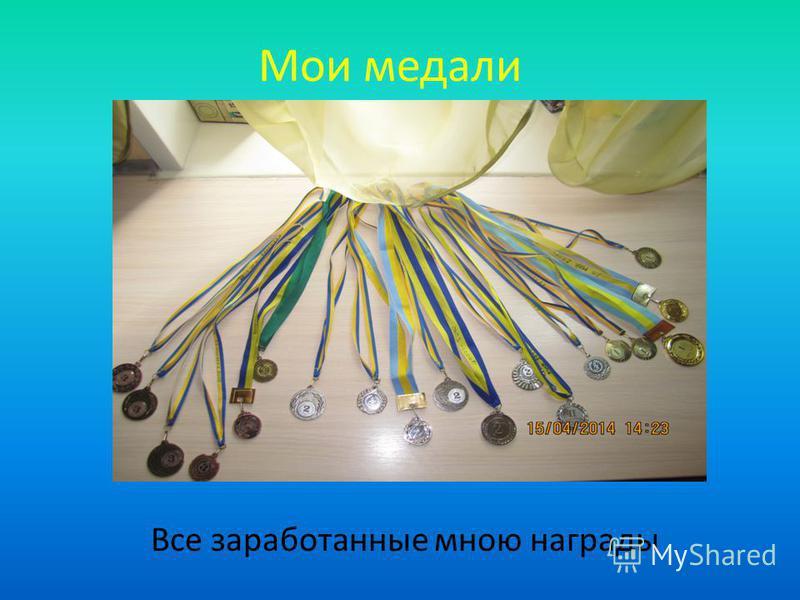 Мои медали Все заработанные мною награды