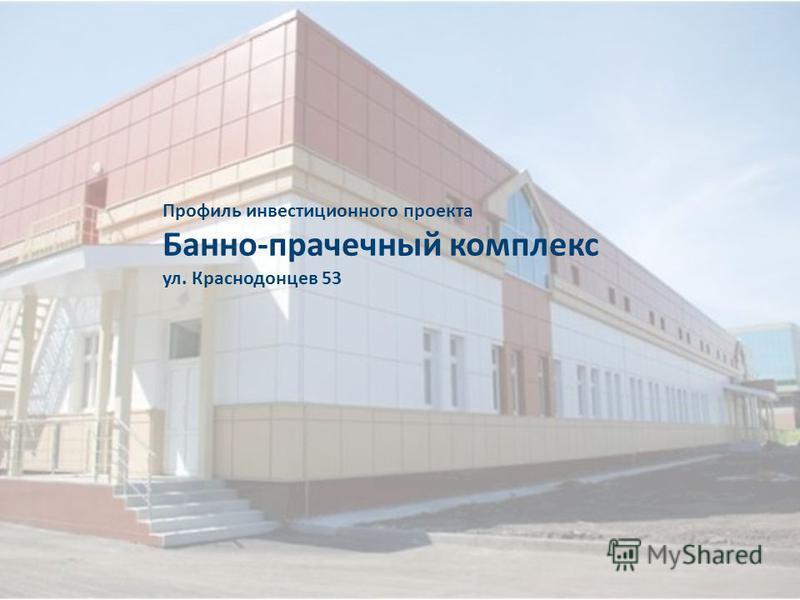 Профиль инвестиционного проекта Банно-прачечный комплекс ул. Краснодонцев 53