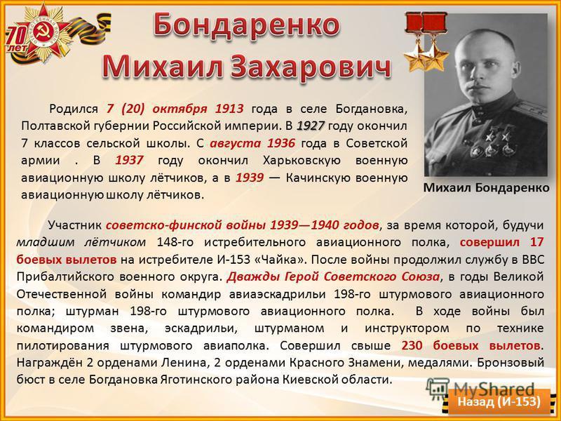 Участник советско-финской войны 19391940 годов, за время которой, будучи младшим лётчиком 148-го истребительного авиационного полка, совершил 17 боевых вылетов на истребителе И-153 «Чайка». После войны продолжил службу в ВВС Прибалтийского военного о