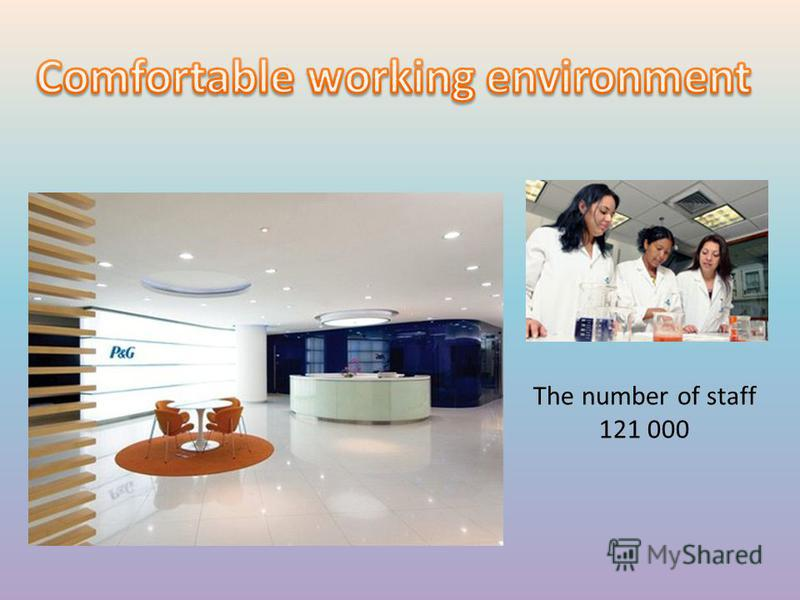 The number of staff 121 000