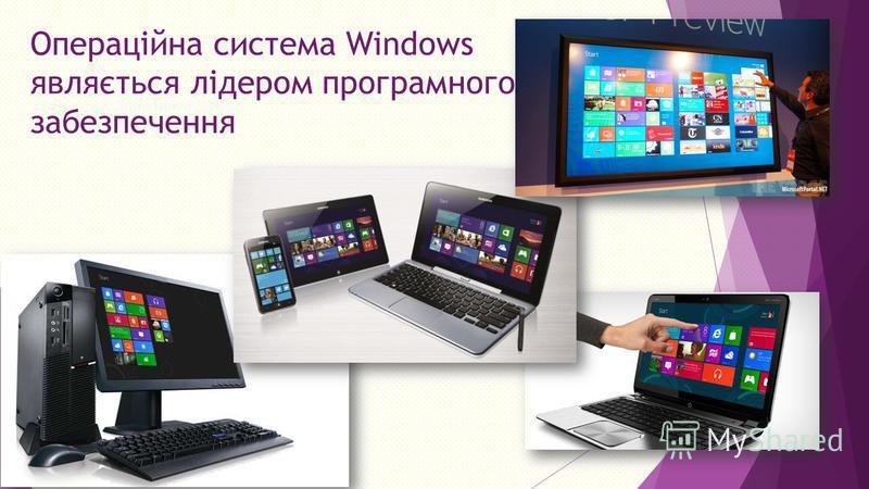Операційна система Windows являється лідером програмного забезпечення