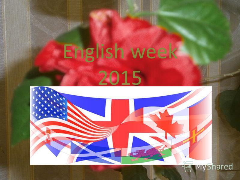 English week 2015