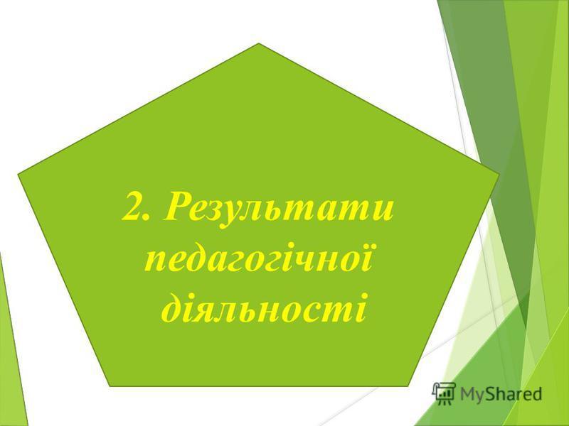 2. Результати педагогічної діяльності