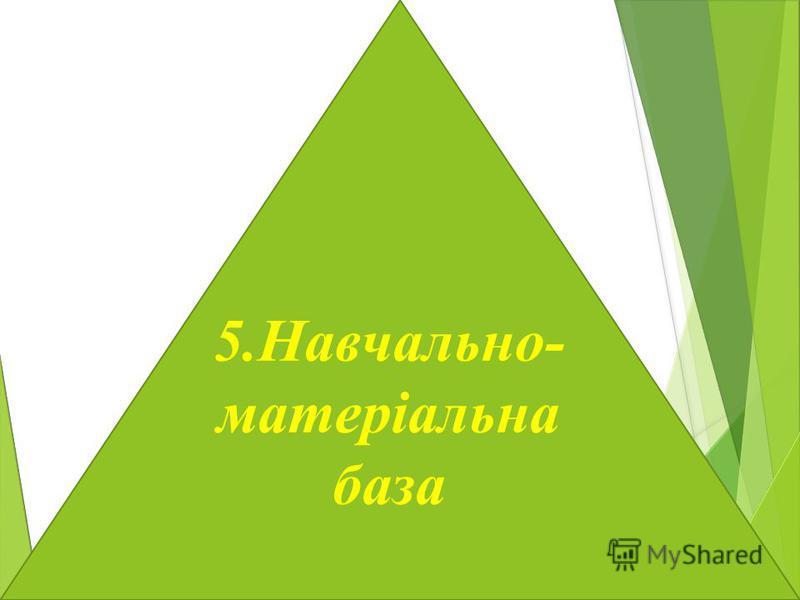 5.Навчально- матеріальна база
