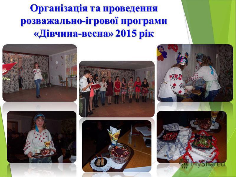 Організація та проведення розважально-ігрової програми «Дівчина-весна» 2015 рік