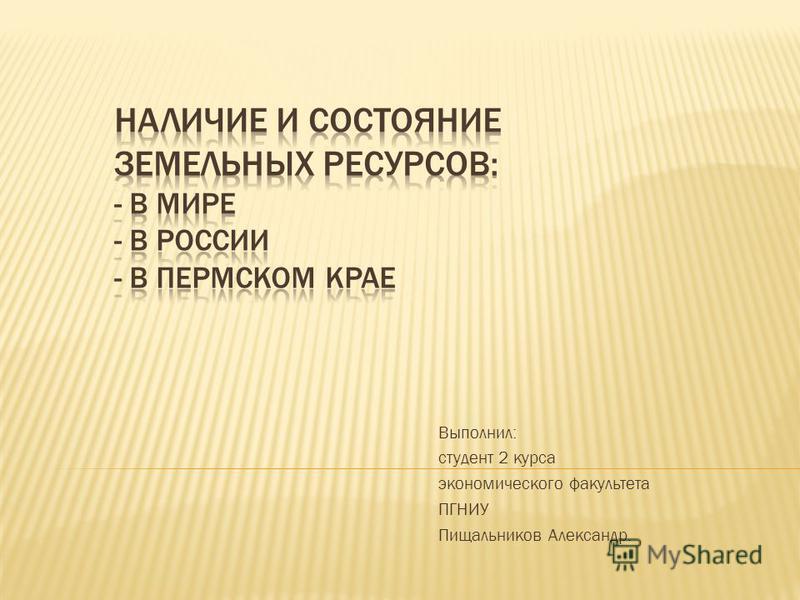 Выполнил: студент 2 курса экономического факультета ПГНИУ Пищальников Александр.