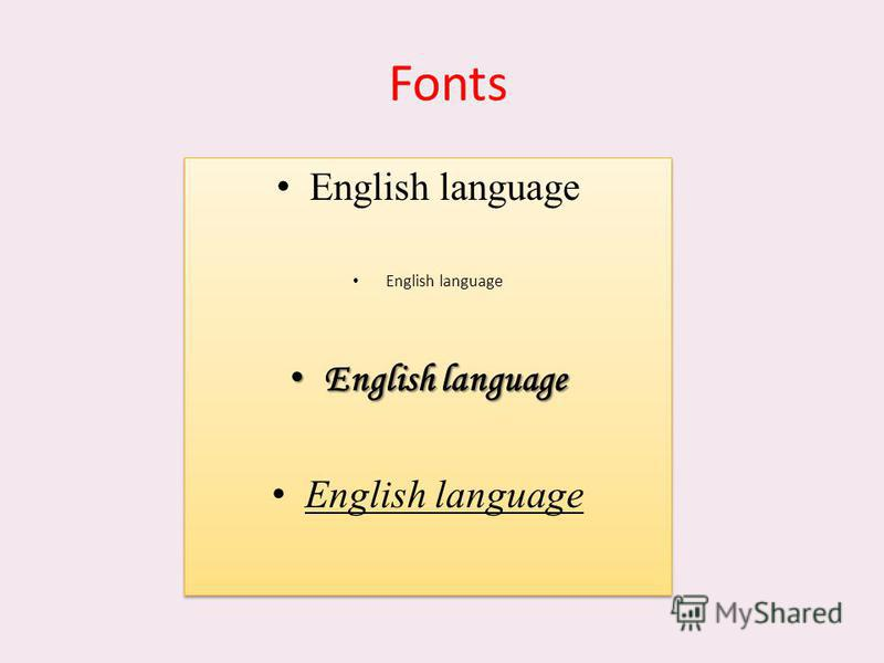 Fonts English language English language English language English language English language English language English language