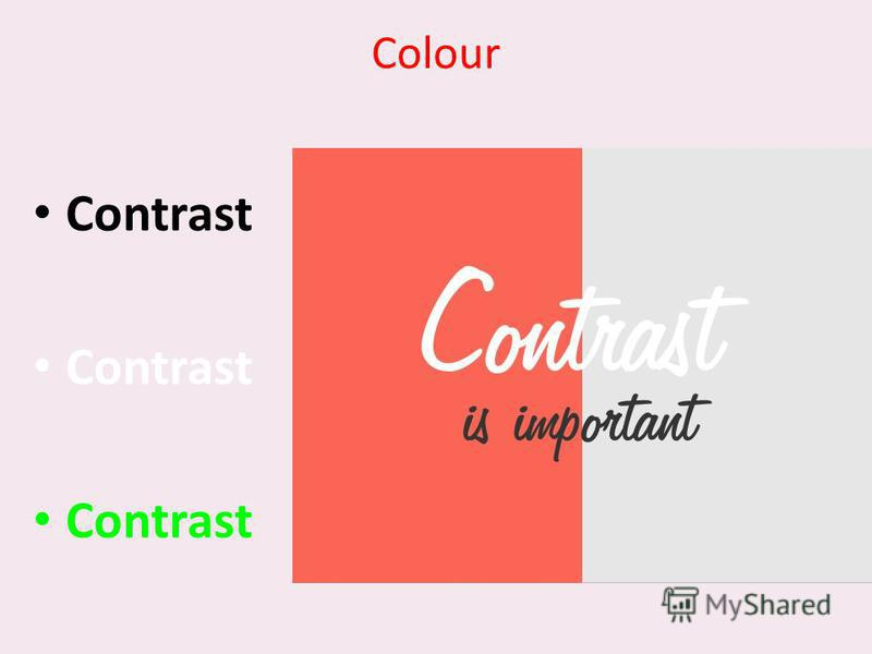 Colour Contrast