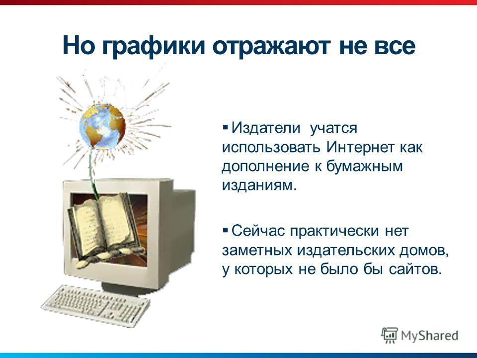 Издатели учатся использовать Интернет как дополнение к бумажным изданиям. Сейчас практически нет заметных издательских домов, у которых не было бы сайтов. Но графики отражают не все