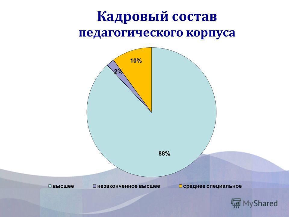 Кадровый состав педагогического корпуса