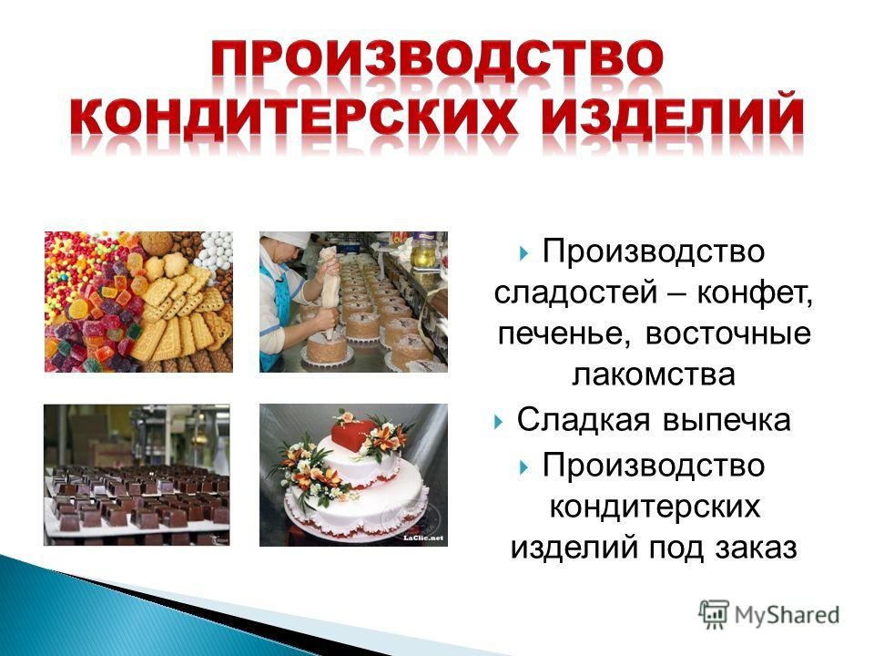 Производство сладостей – конфет, печенье, восточные лакомства Сладкая выпечка Производство кондитерских изделий под заказ
