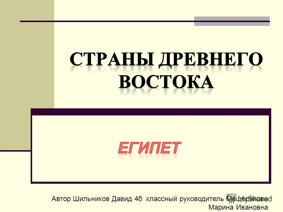 Автор Шильников Давид 4 б классный руководитель Мещерякова Марина Ивановна