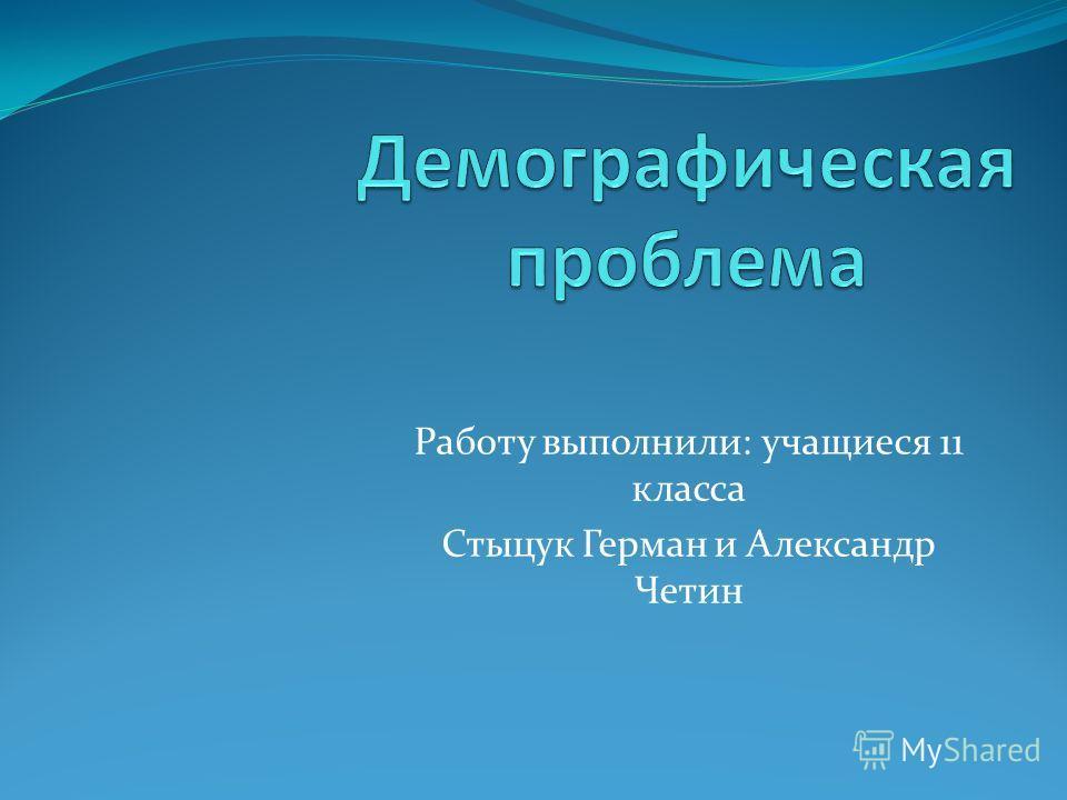 Работу выполнили: учащиеся 11 класса Стыцук Герман и Александр Четин