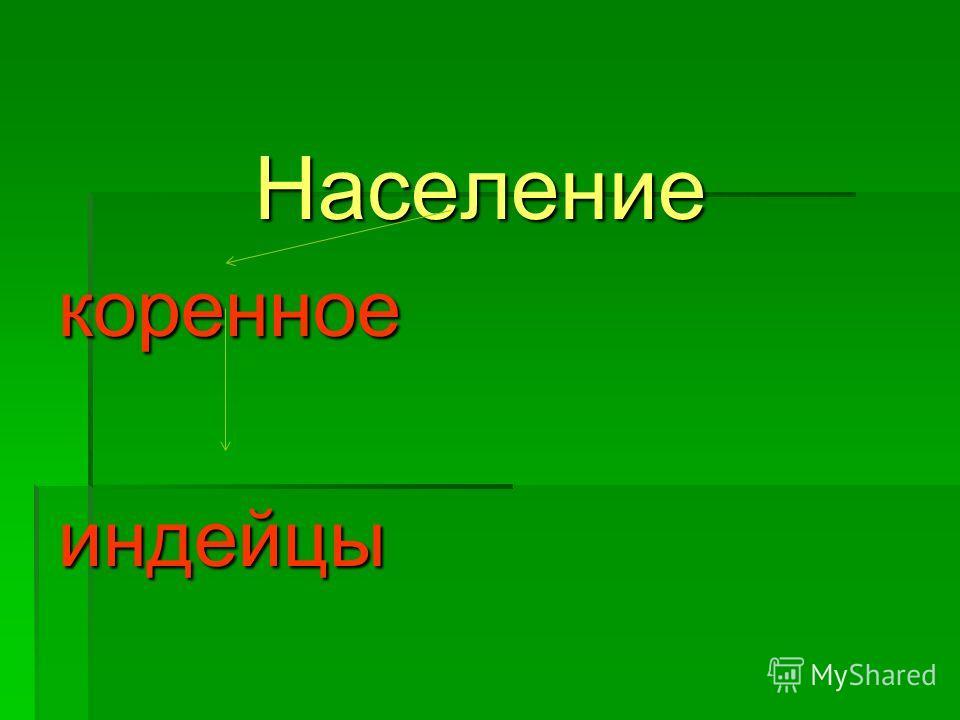 Населениекоренноеиндейцы