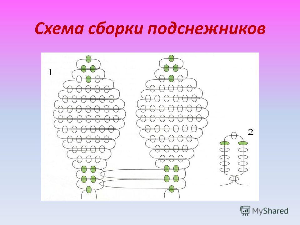 Схема сборки подснежников