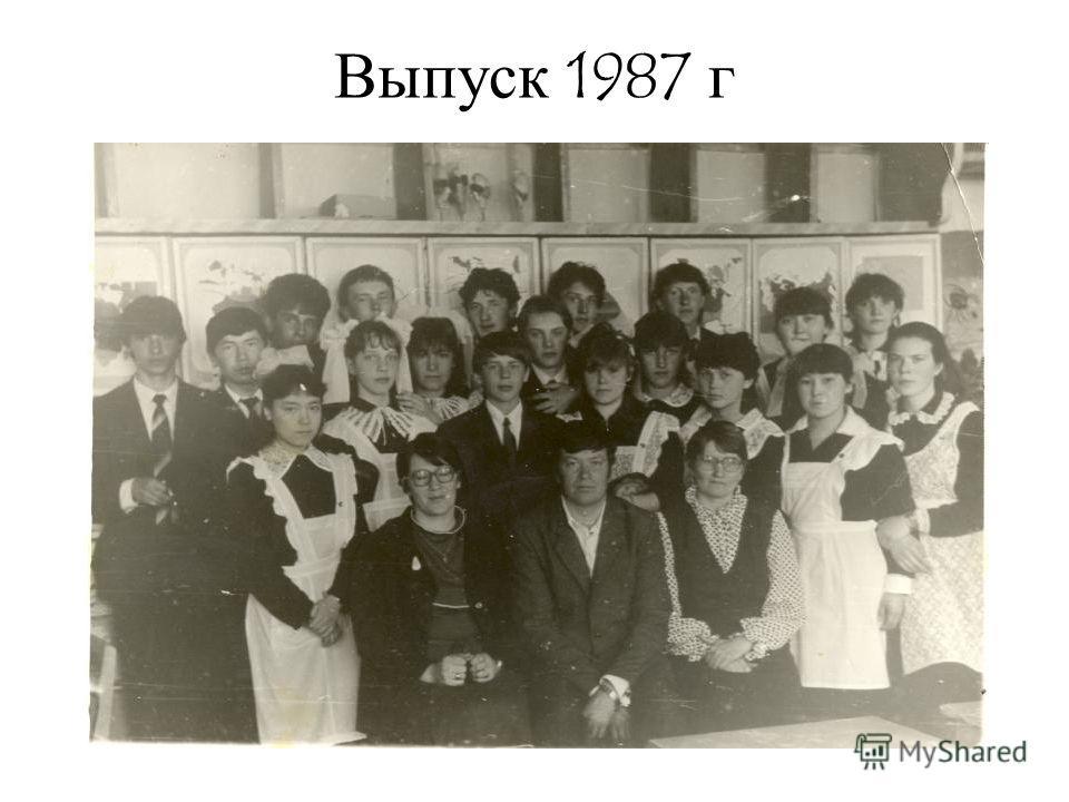 Выпуск 1987 г