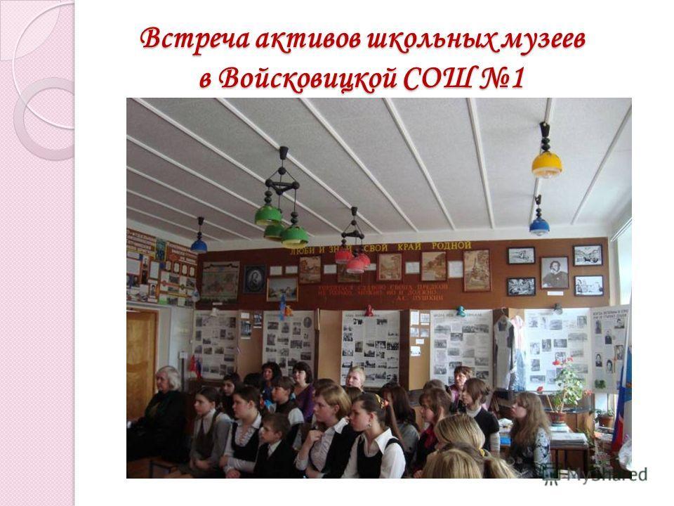 Встреча активов школьных музеев в Войсковицкой СОШ 1