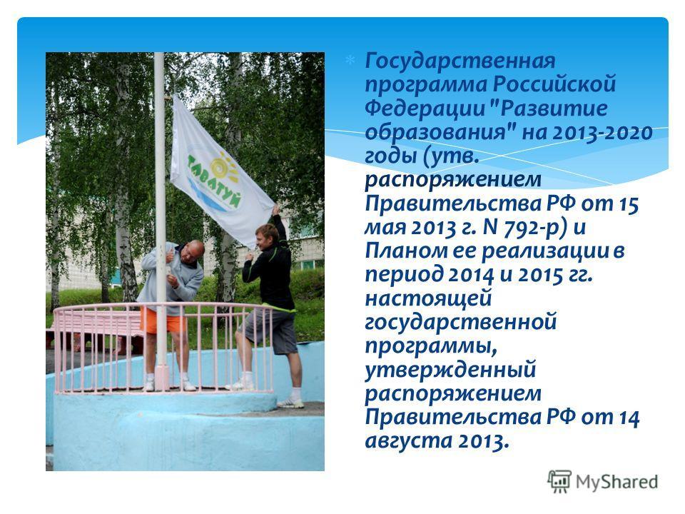 Г осударственная программа Российской Федерации
