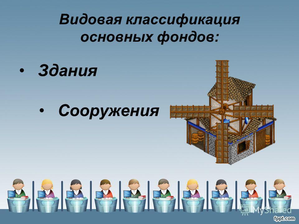 Видовая классификация основных фондов: Здания Сооружения