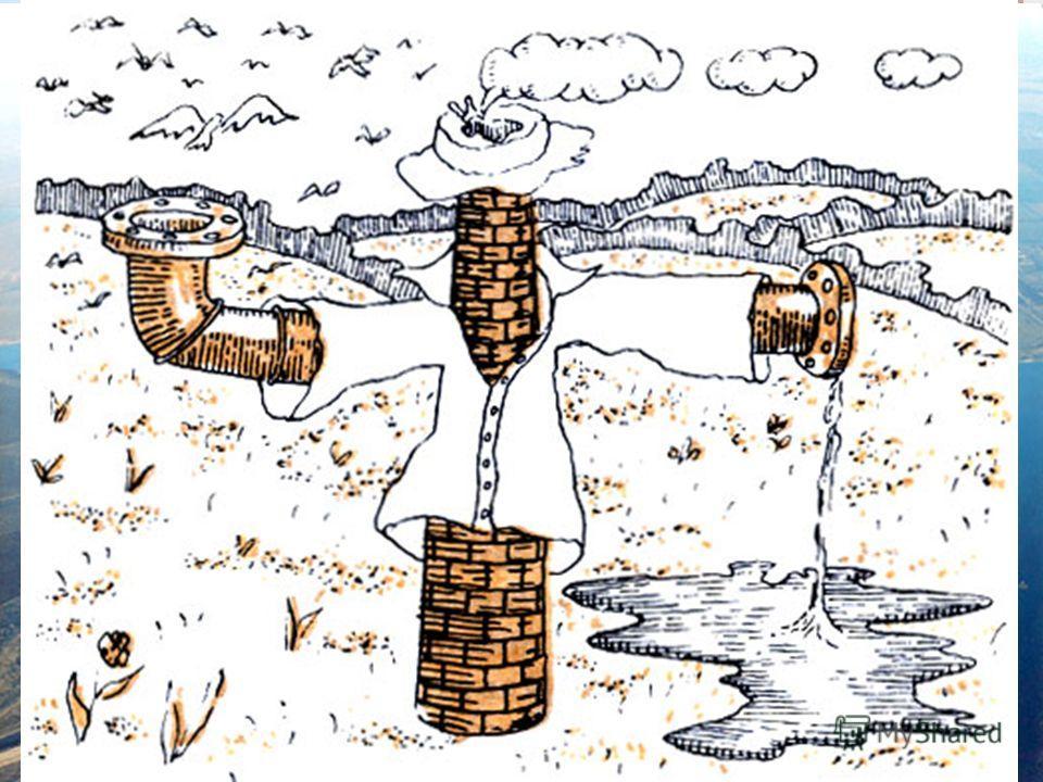 Загрязнение атмосферы Атмосфера - внешняя оболочка биосферы. Ее роль в природных процессах биосферы огромна. Состав атмосферы - кислород, азот, аргон, углекислый газ и инертные газы. В процессе своей деятельности человек загрязняет окружающую среду.