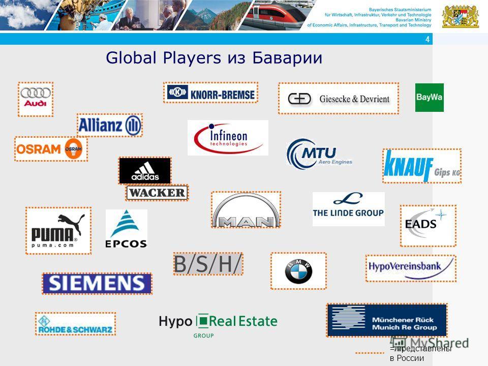 4 Global Players из Баварии = представлены в России