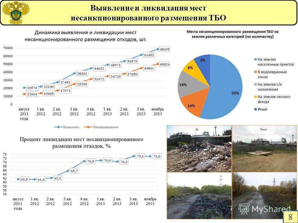 Выявление и ликвидация мест несанкционированного размещения ТБО 8