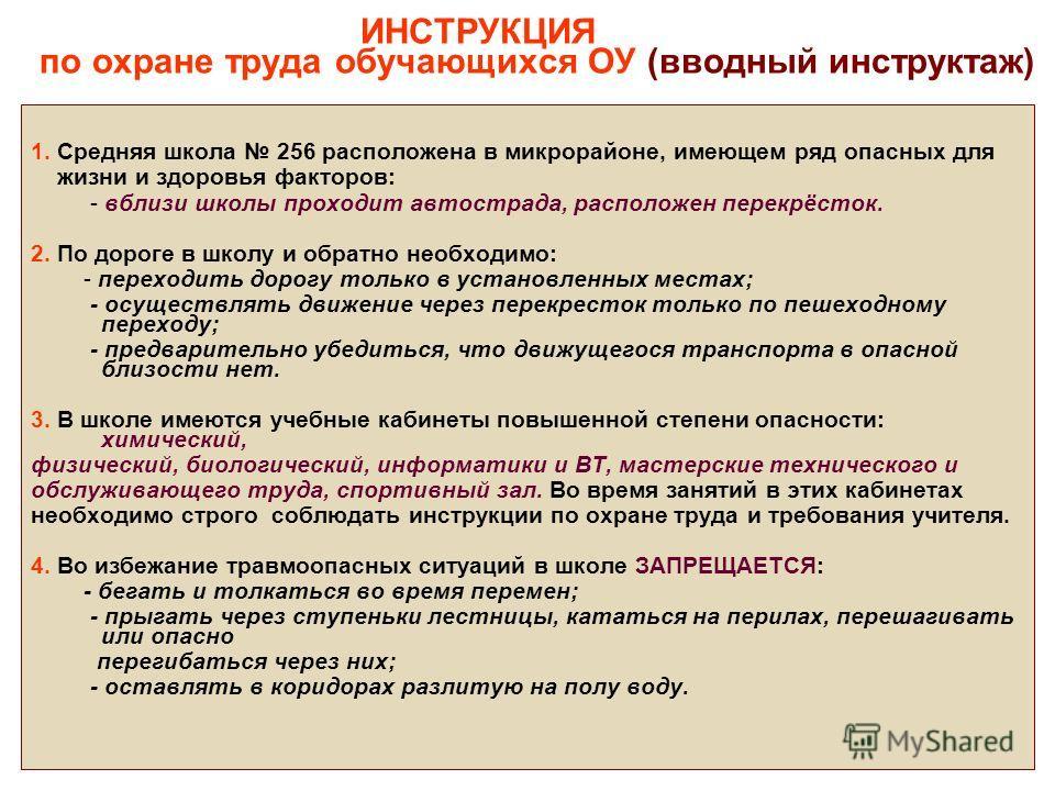 инструкция по охране труда зам. директора по учебной работе