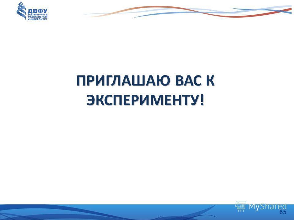 ПРИГЛАШАЮ ВАС К ЭКСПЕРИМЕНТУ! 65