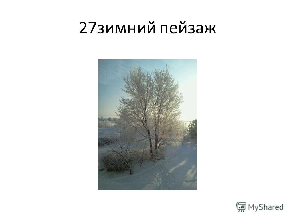 27 зимний пейзаж