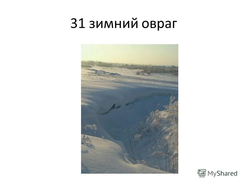 31 зимний овраг