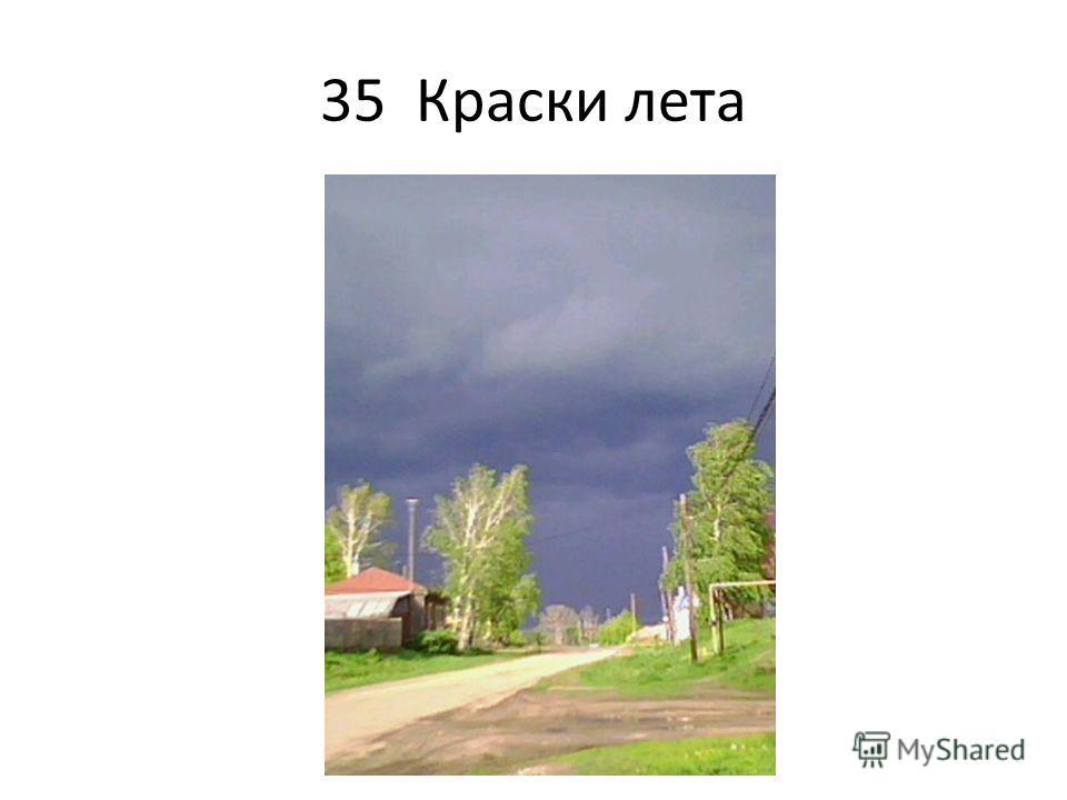 35 Краски лета
