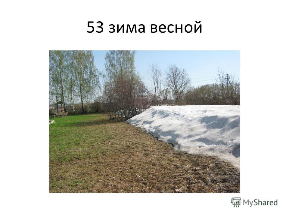 53 зима весной